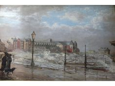 William Woodhouse - THE PROMENADE AT MORECAMBE, LOOKING WEST; Medium: oil on canvas; Dimensions: 29.5 X 44 cm.