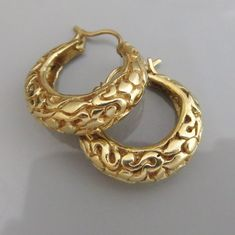 14 k Gold Hoop Earrings ,  Gypsy Gold Earrings , Solid Gold Earrings , Large Hoop Earrings , Wide Go