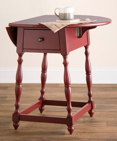 Loving this Red Farmhouse Drop-Leaf Table on #zulily! #zulilyfinds