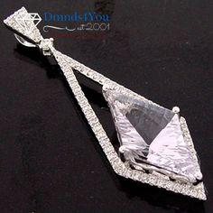 F407, 4.33AMT/0.40CT., Round Diamond Modern Pendant, Prong Set 18k White Gold - Dmnds4You