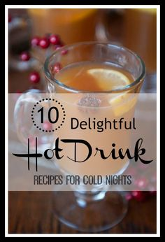 The nights are getting colder and colder and that means it's time to break out the hot drinks! Here are 10 delicious hot drink recipes for cold nights. Wine Drinks, Cocktail Drinks, Coffee Drinks, Alcoholic Drinks, Yummy Snacks, Yummy Drinks, Yummy Food, Healthy Food, Warm Cocktails
