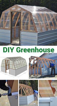 DIY Greenhouse # greenhouse plans diy how to build DIY Greenhouse Diy Greenhouse Plans, Backyard Greenhouse, Backyard Landscaping, Homemade Greenhouse, Stone Landscaping, Greenhouse Plants, Backyard Play, Landscaping Design, Pergola Plans
