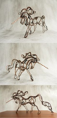 Wire Unicorn by UrsulaOT.deviantart.com on @deviantART