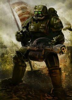 Fallout Fan Art, Fallout Concept Art, Fallout Power Armor, Fallout Wallpaper, Rpg Cyberpunk, Arte Zombie, Fallout Cosplay, Post Apocalyptic Art, Eden Design