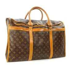 Looks like the perfect size - AUTHENTIC VTG LOUIS VUITTON 8-POCKET CARRY ON LUGGAGE TRAVEL TOTE BAG