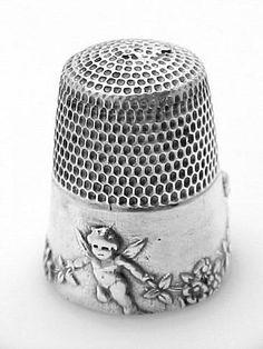 Cherubs Angels Silver Sewing Thimble | eBay