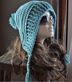 Crochet Hats Design Tallulah Tassel Hood by Cass James Design - Crochet Pattern- Tallulah Tassel Hood Pattern. Crochet Adult Hat, Crochet Hood, Bonnet Crochet, Crochet Beanie, Knit Or Crochet, Crochet Scarves, Crochet Crafts, Crochet Clothes, Crochet Stitches