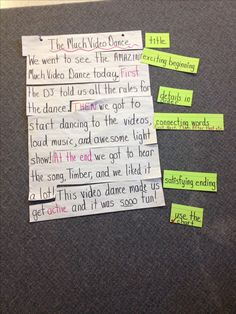 A quick mini lesson for recount writing! Talk 4 Writing, Procedural Writing, Work On Writing, Narrative Writing, Writing Lessons, Writing Prompts, Writing Ideas, Kindergarten Writing, Teaching Writing