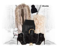 """nr 671 / Fur"" by kornitka ❤ liked on Polyvore featuring See by Chloé, Alexander Wang, Gianvito Rossi, Mint Velvet and Loushelou"