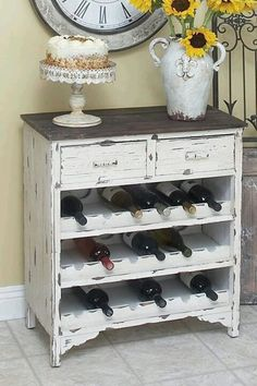 Old dresser with a new purpose....  Could make it into great place to leave your shoes by the backdoor.
