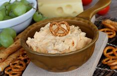 A great dip for crackers and pretzels, with only four ingredients, you'll love this cheesy side dish.
