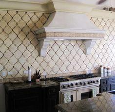 white arabesque kitchen backsplash - cannot get enough of these