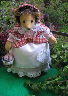 Art doll Beatrix Potter   Hedgehog   Tiggy by dollsandbunnies, $46.50