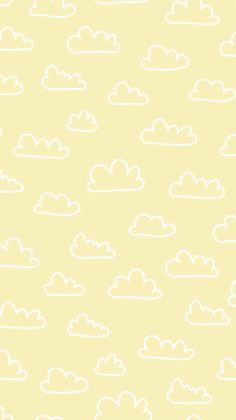 print, pattern, design, clouds, repeat, kids, drawing, yellow, wrap