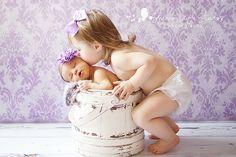big sister, newborn