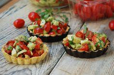 Tomato Avocado TARTS- grain free, gluten free, made with coconut flour, p3 hcg diet recipe