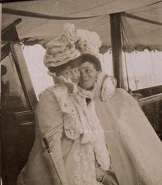 Cousins having fun Grand Duchess Maria Georgievna of Russia with Grand Duchess Xenia Alexandrovna, late 1890s.