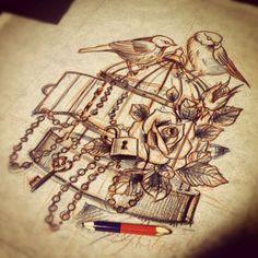 Sketches by Michael Chernov, via Behance
