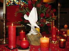 altar decorations for pentecost | Beautiful dove on 2013 Pentecost Altar at St. Timothy UMC, Brevard, NC ...