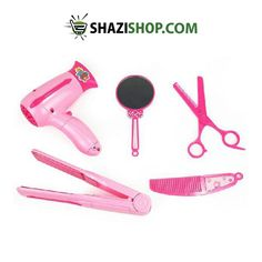ShaziShop offers Beauty Play Set Hair Dryer, Scissor, Comb, Mirror & Hair Straightener at $27. https://www.shazishop.com/collections/makeup-accessories-and-sets/products/beauty-play-set-hair-dryer-scissor-comb-mirror-hair-straightener