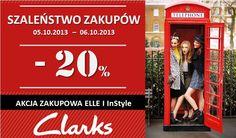 Marka Clarks zaprasza na Szaleństwo Zakupów z magazynami ELLE i InStyle! Kogo skusi rabat -20%?