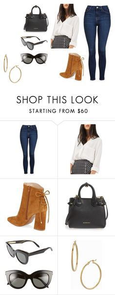 """""""Sin título #9826"""" by ceciliaamuedo ❤ liked on Polyvore featuring Topshop, Kristin Cavallari, Burberry, Victoria Beckham and Bony Levy"""