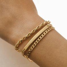 Fashion Bracelets, Jewelry Bracelets, Fashion Jewelry, Gold Chain Bracelets, Braclets Gold, Dainty Jewelry, Cute Jewelry, Gold Jewellery, Gold Armband