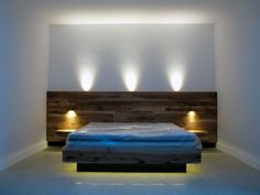 What Everyone Is Saying About DIY Platform Bed With Floating Night Stands Is Wrong and Why - homesuka Wood Bedroom, Bedroom Bed, Bedroom Furniture, Home Furniture, Master Bedroom, Bedroom Decor, Bed Frame Design, Diy Bed Frame, Bed Design