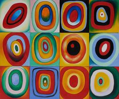 Art Reproduction Oil Painting - Kandinsky Paintings: Farbstudie Quadrate - Classic X - Hand Painted Canvas Art Kandinsky Circles, Color Studies, Popular Artwork, Art Reproductions, Painting, Framed Canvas Art, Wassily Kandinsky, Hand Painted Canvas, Canvas Art