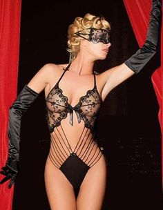 Fabulous! sexy and sheer black lace bodysuit.#corset