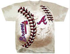 Atlanta Braves Tie Dye Hard Ball T-Shirt