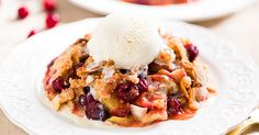 Forget cranberries only on holidays. Try this Vegan Cranberry Apple Crisp. It's full of bright colors, deep flavors, it's addicting!