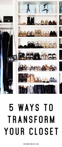 Transform your closet into a Pinterest dream.