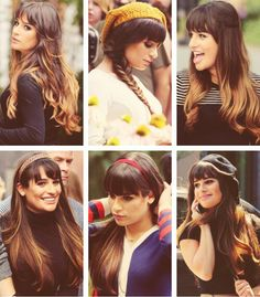 Lea Michele. Hair jealousy! Makes me want to get bangs again.
