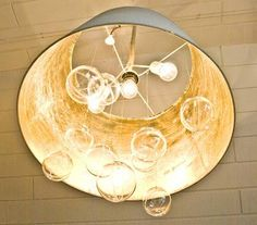 Paint the inside of a hanging light gold