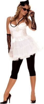 Pop Queen 80s Costume for Adults    it says party like it is    i must get it!  @Mari Tere