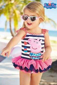 Little Girls swimsuit female baby Girl Peppa Pig cartoon one-piece gir                      – Hot Sale Products free ship to worldwide