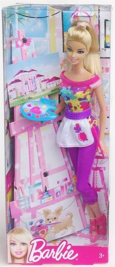 Barbie Y7486 I Can Be... Artist 30cm Doll with Accessories Mattel #Mattel