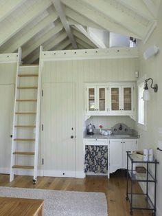Kitchenette w/ ladder. Might work to utilize guesthouse loft.