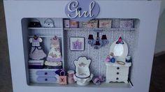Vestidor --  Little Girl 3 ( color lila) by SuMer Miniaturas