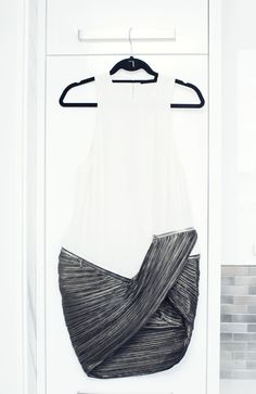 """This dress is Anthony Vaccarello. I found it a few years ago at a really great store in Barcelona called Santa Eulalia."" http://www.thecoveteur.com/julie-heller-eraluxe/"