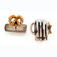 Check out the deal on Beer Mug and Pretzel Cufflinks at Cufflinks Depot