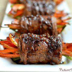 Balsamic Glazed Steak Rolls |