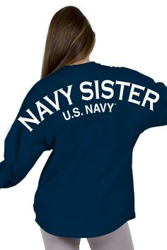 Navy Sister Classic Crew Neck Spirit Jersey® Campus Navy-XSM-front-print-Yes-Logo-Left Chest