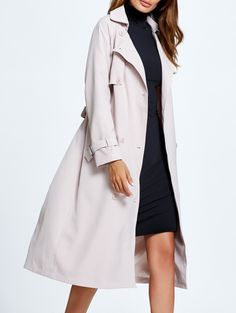 Double-Breast Bowknot Trench Coat