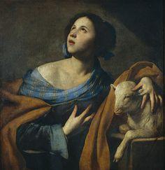 Saint Agnes Massimo Stanzione