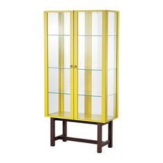 STOCKHOLM Glass-door cabinet - yellow - IKEA £275