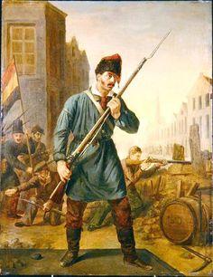 Soldier of the Belgian Revolution in 1830