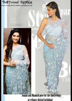 Sonam Kapoor bollywood replica beautiful net saree . Buy online at - http://gravity-fashion.com/16053-sonam-kapoor-bollywood-replica-beautiful-net-saree.html