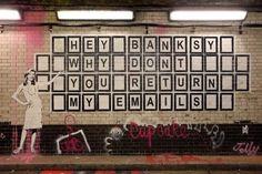 Banksy, ¿Por qué no me contestás los emails? (Foto)